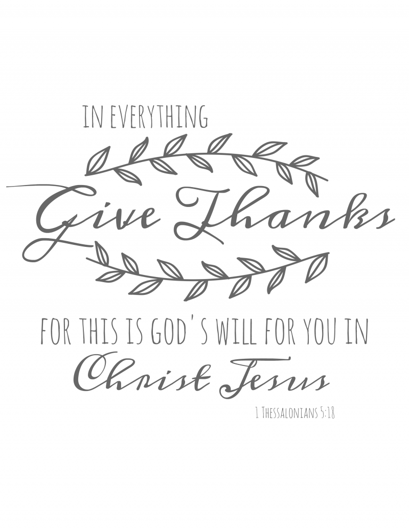 image relating to Give Thanks Printable named Present Because of Scripture Printable - Savvy At Property Mother