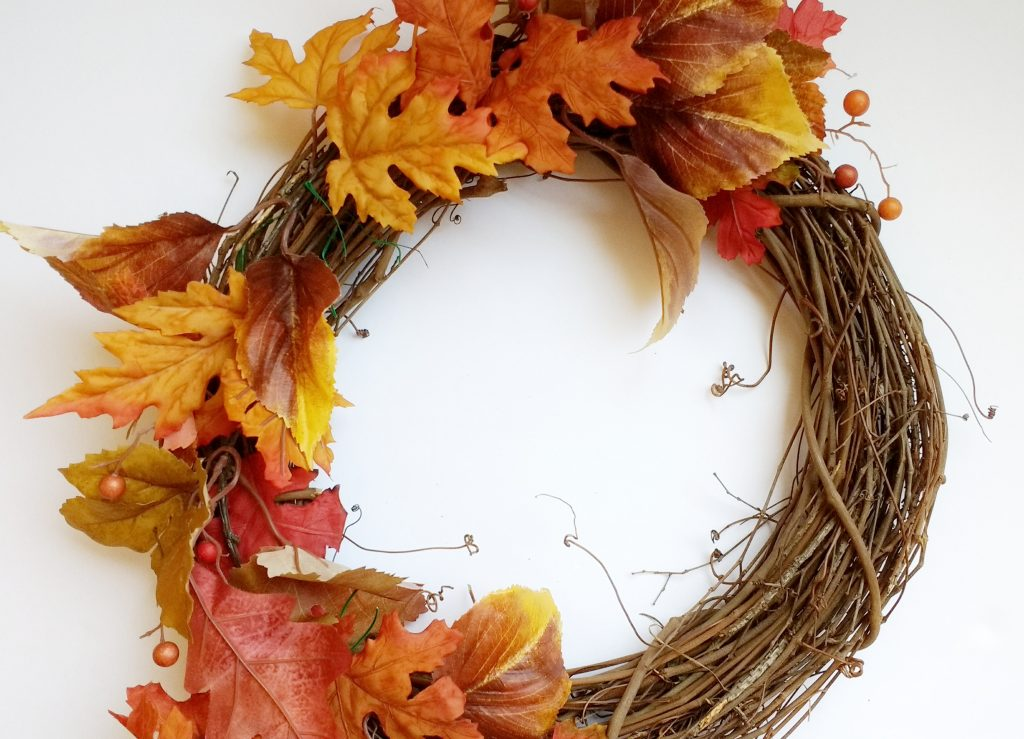 Leaves on Wreath