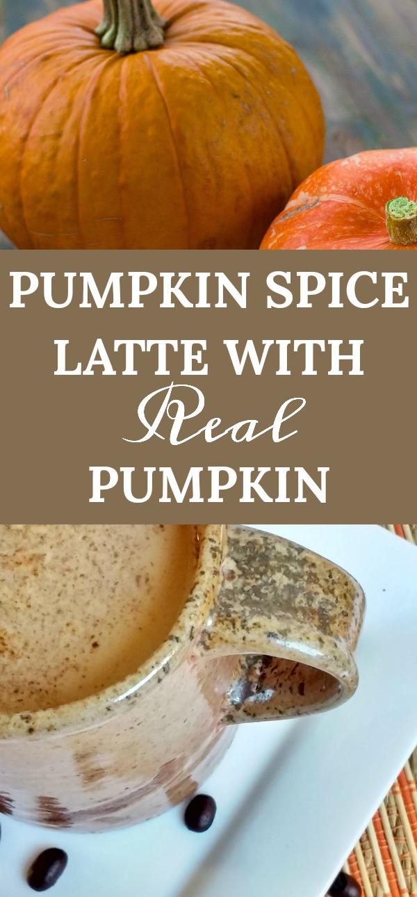 Pumpkin Spice Latte with Real Pumpkin