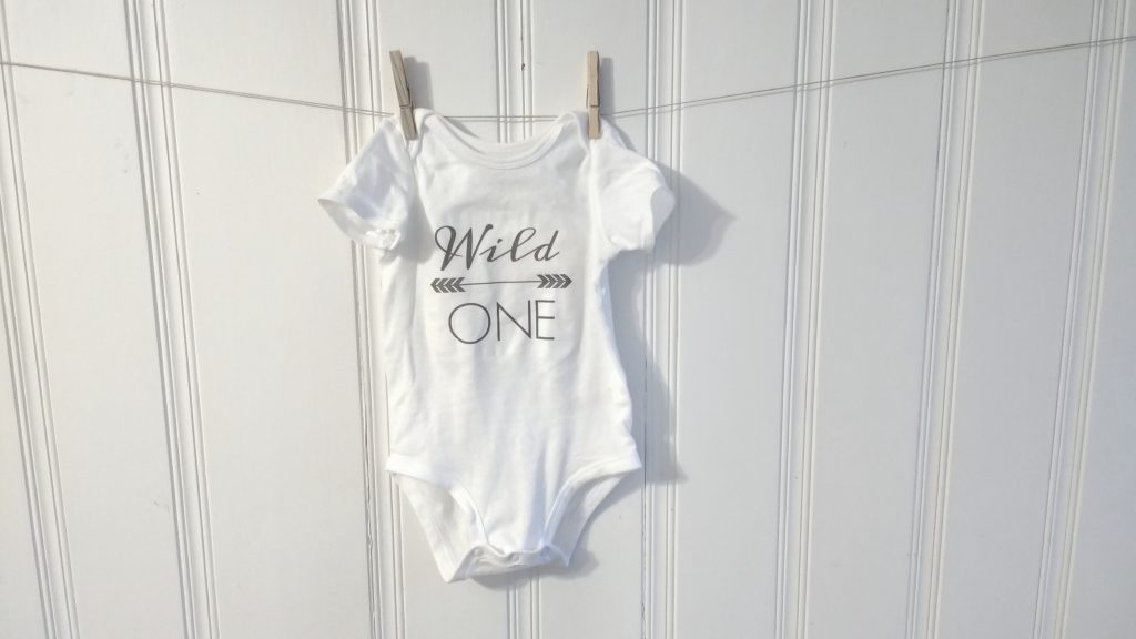 Wild One birthday onesie and leggings DIY