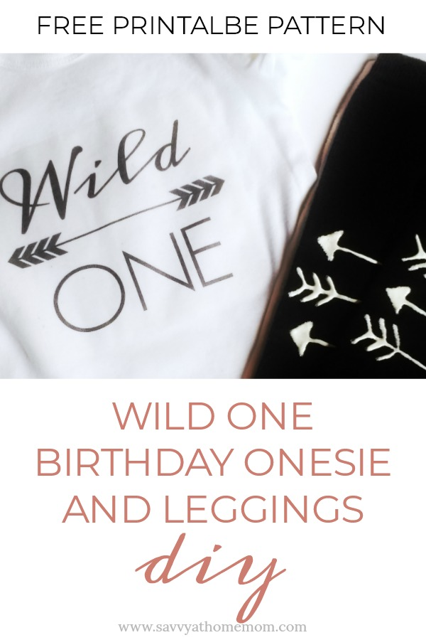"Celebrating a 1st birthday? Make this cute and easy ""Wild One"" onesie and matching leggings. Free pattern included!"