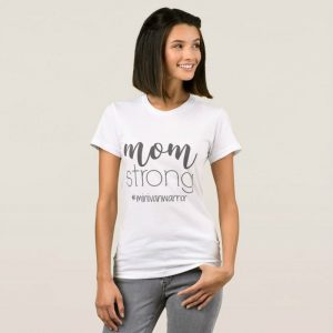 mom strong minivan warrior white t shirt