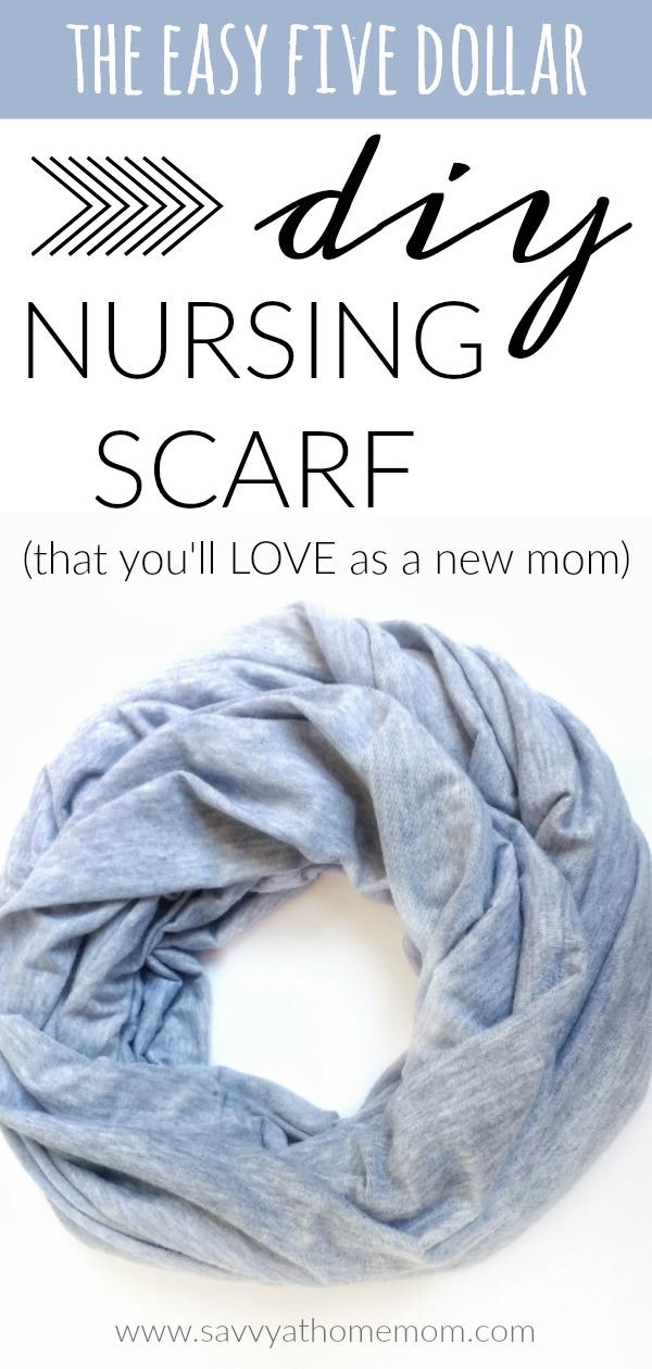 the easy five dollar diy nursing scarf