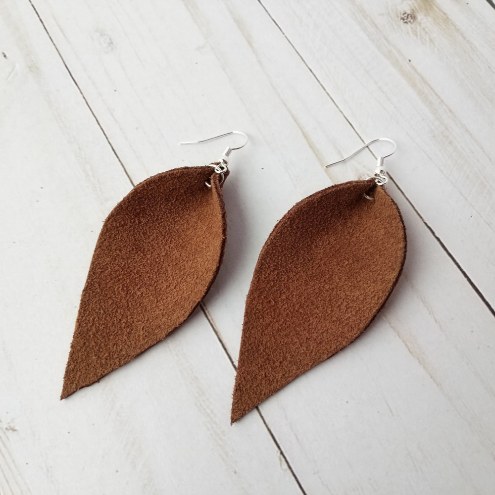356f5f89f Reverse Teardrop Leather Earrings - Savvy At Home Mom