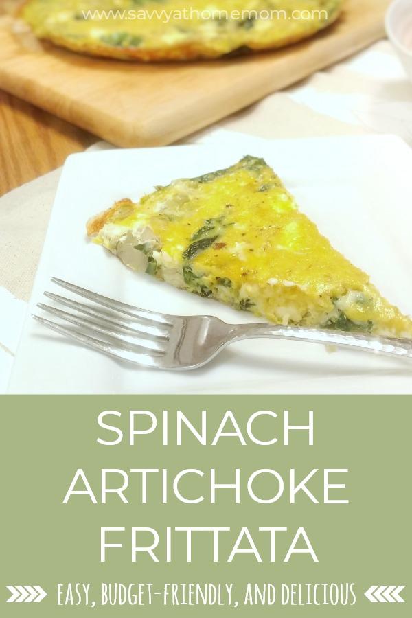 spinach artichoke frittata recipe - easy, budget friendly, and delicious