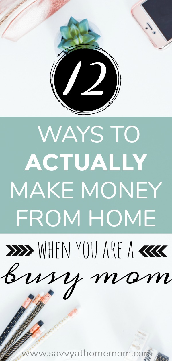how to make money from home even as a busy mom