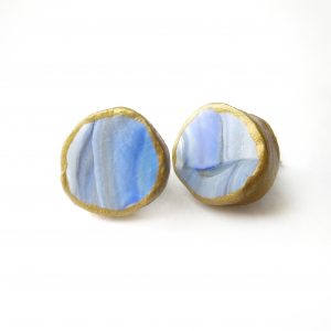 the mom earrings cornflower blue