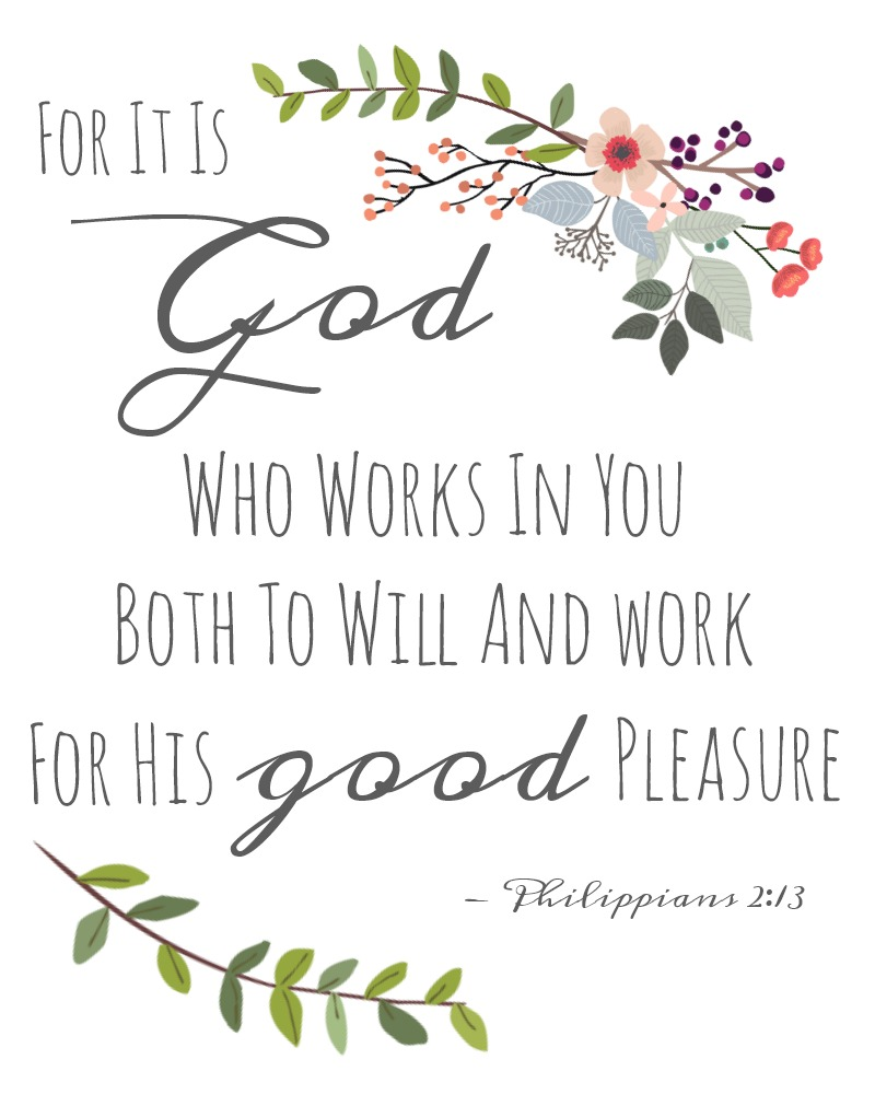 for it is god who works in you scripture printable